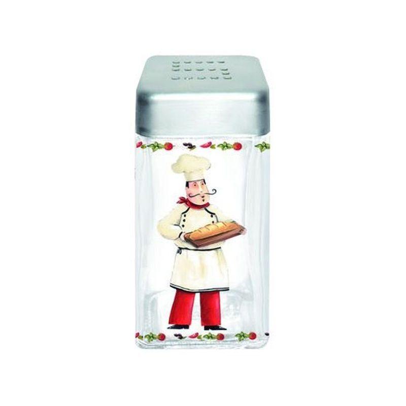 Pojemnik szklany z pokrywą na sól