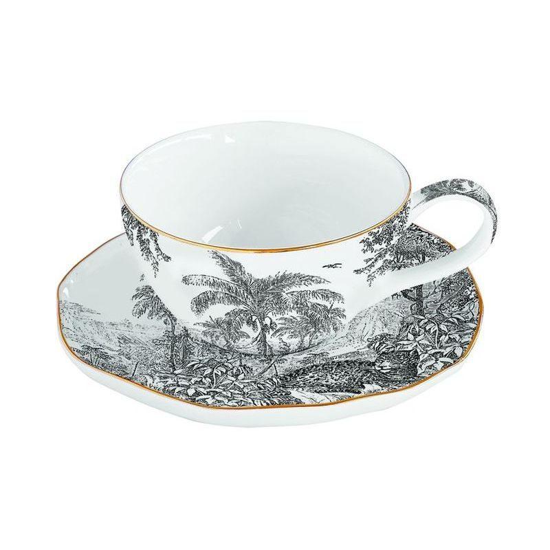 Porcelanowa filiżanka z talerzykiem