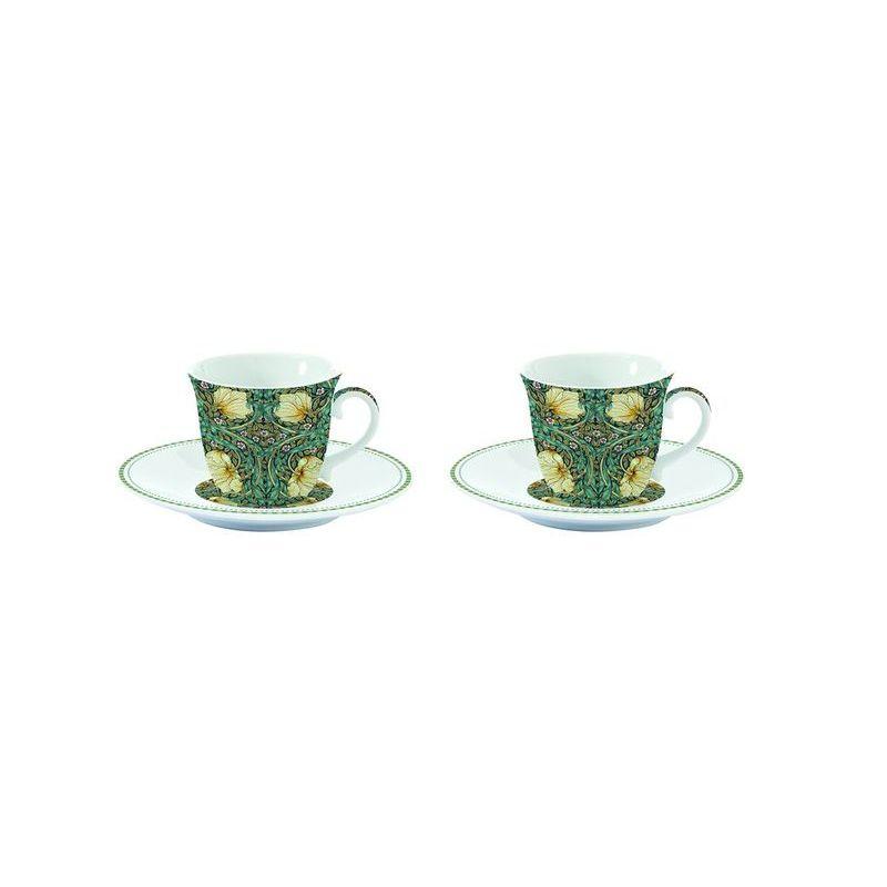 Zestaw 2 szt. filiżanek espresso z talerzykami