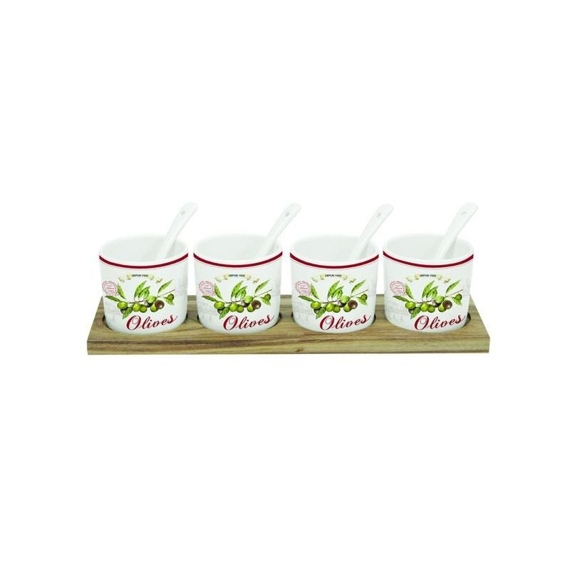 Zestaw 4 miseczek z łyżeczkami