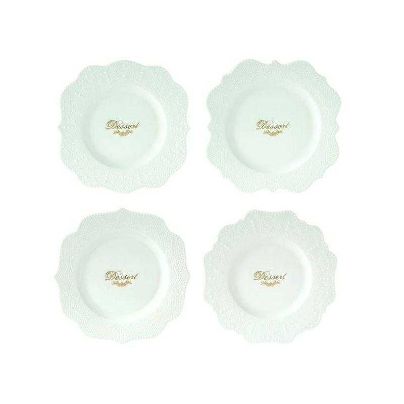 Zestaw 4 talerzy z porcelany