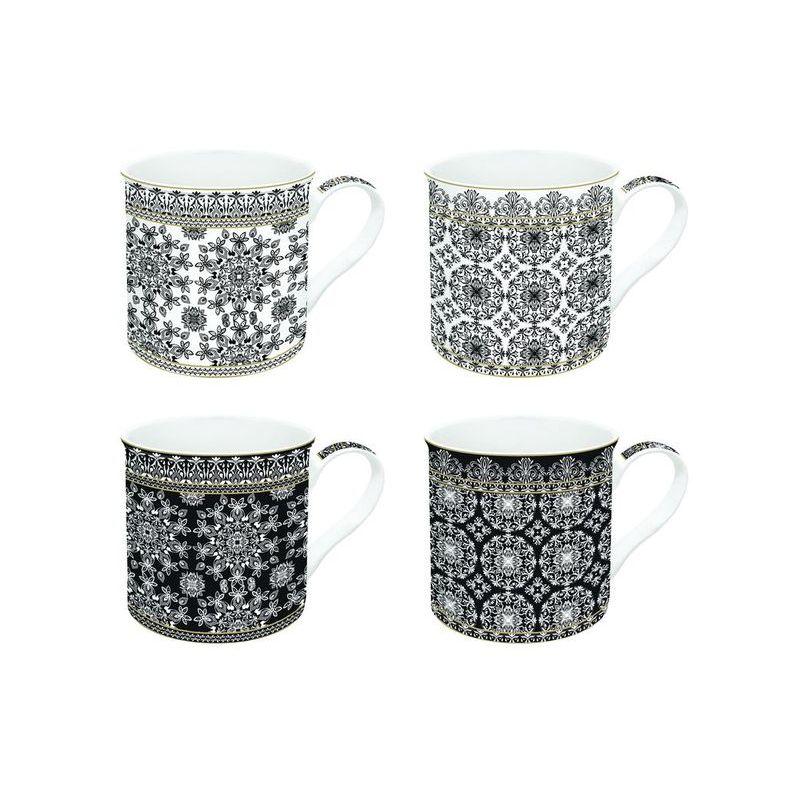 Zestaw 4 kubków z porcelany